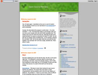 opensourcereview.blogspot.nl screenshot
