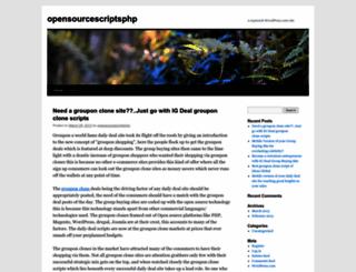 opensourcescriptsphp.wordpress.com screenshot