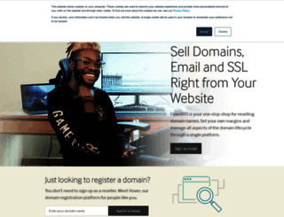 opensrs.com screenshot