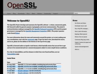 openssl.org screenshot