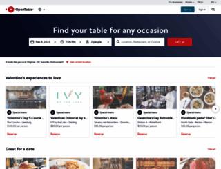 opentable.com screenshot