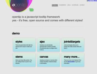 opentip.org screenshot