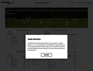 openuni.play-cricket.com screenshot