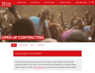 openupcontracting.org screenshot