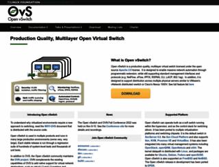 openvswitch.org screenshot