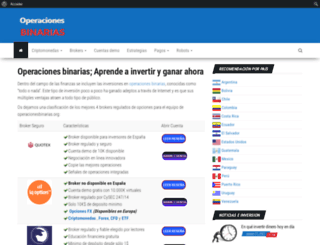 operacionesbinarias.org screenshot