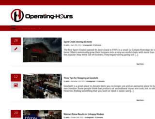 operating-hours.com screenshot