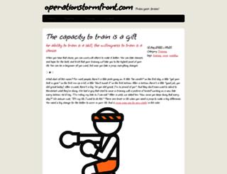 operationstormfront.com screenshot