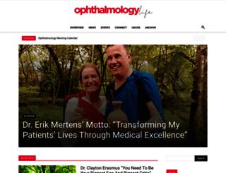 ophthalmologylife.com screenshot