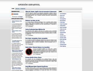 opinionespanyol.blogspot.com screenshot