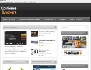 opinionessobrebrokers.com screenshot