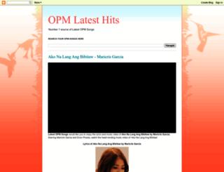 opmlatesthits.blogspot.com screenshot