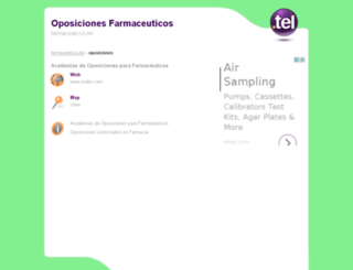 oposiciones.farmaceuticos.tel screenshot