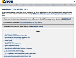 oposicionescorreos.es screenshot