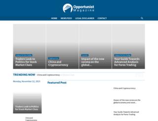 opportunistmagazine.com screenshot