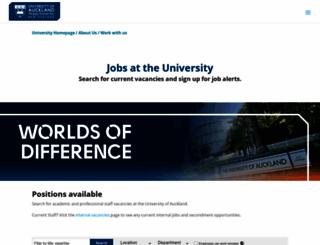 opportunities.auckland.ac.nz screenshot