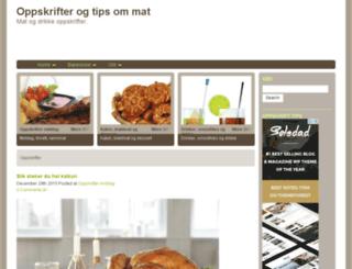oppskrift1.net screenshot