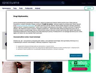 opracowania.pl screenshot