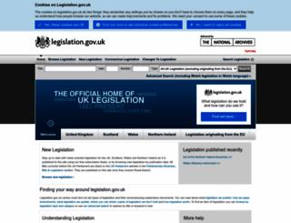 opsi.gov.uk screenshot