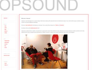 opsound.org screenshot