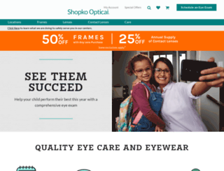 optical.shopko.com screenshot