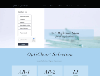 opticalcoatings.com screenshot