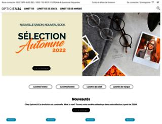 opticien24.be screenshot