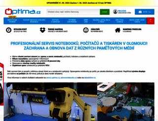 optima.cz screenshot