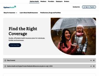 optimahealth.com screenshot