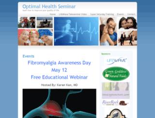 optimalhealthseminar.com screenshot