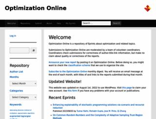 optimization-online.org screenshot