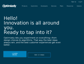 optimizely.net screenshot