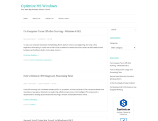 optimizemswindows.com screenshot