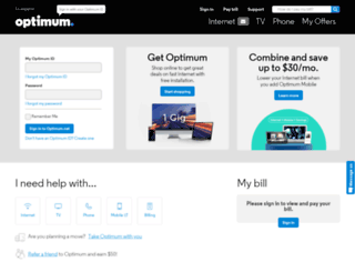 optimum.net screenshot