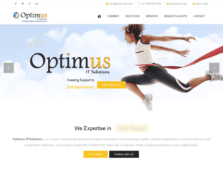 optimusits.com screenshot