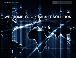 optimusitsolution.com screenshot