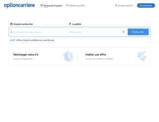 optioncarriere.lu screenshot
