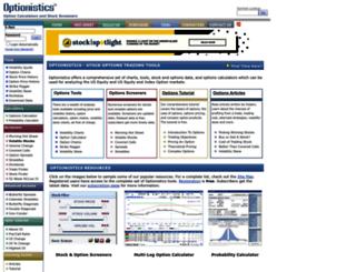 optionistics.com screenshot
