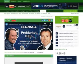 optionshouse.benzinga.com screenshot