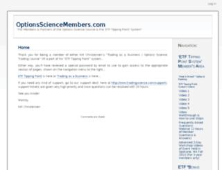 optionssciencemembers.com screenshot