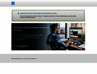 optionsxpress.com screenshot