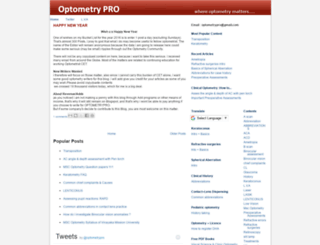 optometrypro.blogspot.com screenshot