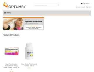 optumrxhealthstore.com screenshot