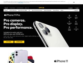 optus.net.au screenshot