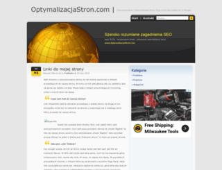 optymalizacjastron.com screenshot