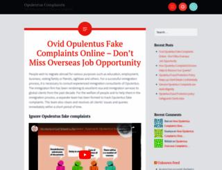 opulentuscomplaint.wordpress.com screenshot