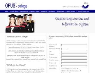 opus-college.net screenshot
