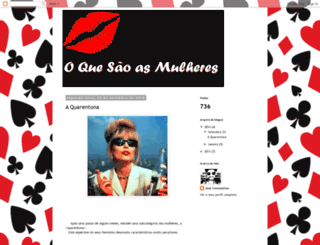 oquesaoasmulheres.blogspot.pt screenshot