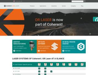 or-laser.com screenshot