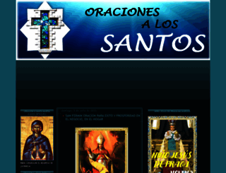 oracionesalossantos.com screenshot